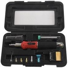 HS 1115K Professionale Saldatura A Gas Butano Ferro Kit Kit di Saldatura Della Torcia Conveniente e alla moda pistola di saldatura dimensioni Compatte