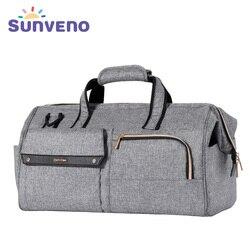 Sunveno bolsa 34L de gran capacidad bolsa de pañales para bebés impermeable de moda bolso de hombro para mamás maternidad bebé bolsa de viaje 3in1