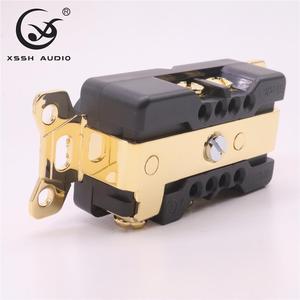 "Image 3 - 1pcs 2pcs XSSH אודיו טהור נחושת מצופה זהב רודיום 20amp 20A 125V אמריקה סטנדרטי בארה""ב כוח שקע חשמלי לשקע"