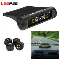 LEEPEE, energía Solar, TPMS para coche, sistemas de alarma de seguridad de coche, pantalla LCD Digital, Sensor de presión de neumáticos