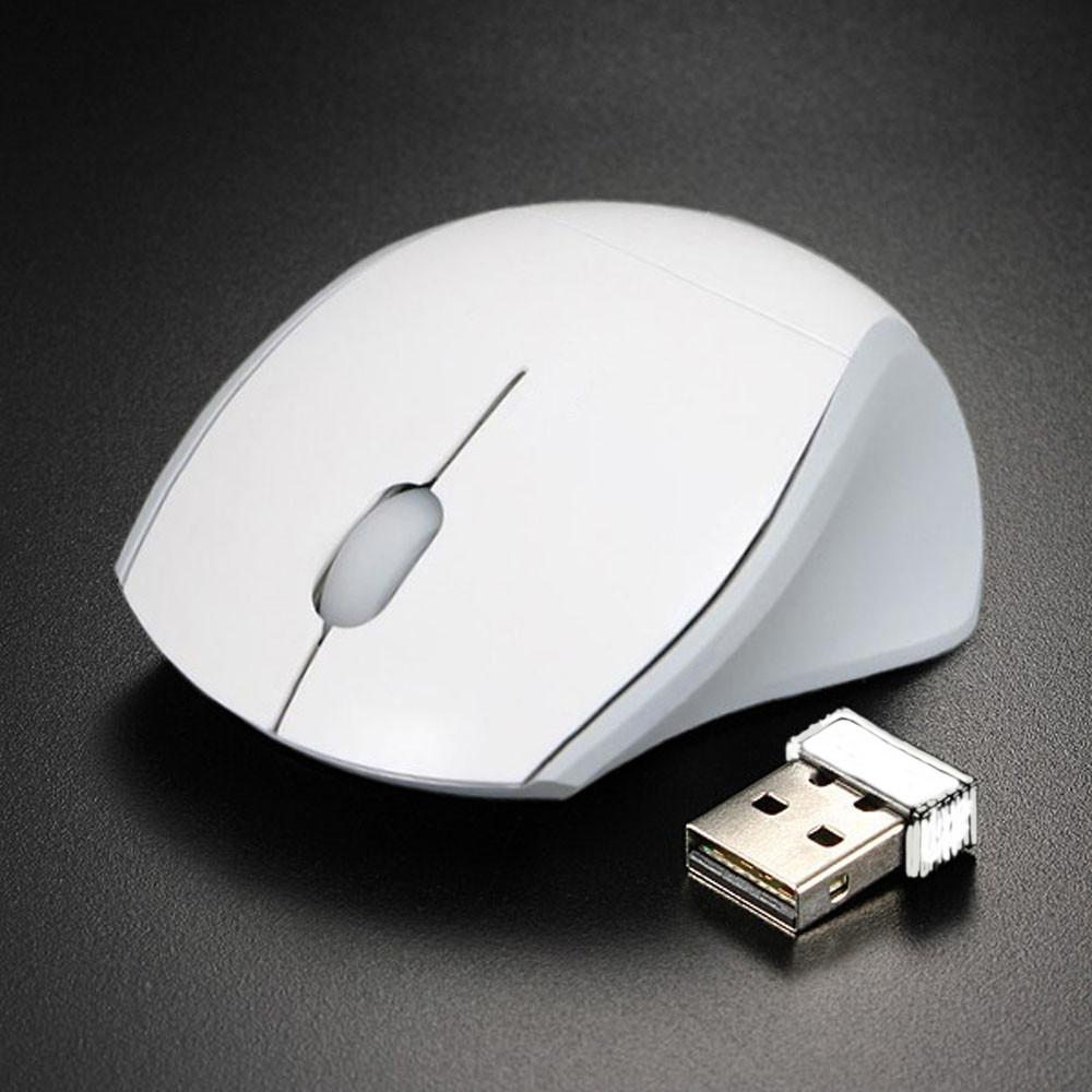 2.4GHz Mice Optical Mouse Cordless USB Receiver PC Computer Wireless For Laptop 2000 DPI Mini 3 Buttons 10m Wi-Fi Range White