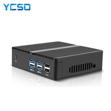 YCSD-Mini PC Core i5 5200U Celeron 2955U i7 i3, ordenador de escritorio sin ventilador, Windows 10, USB 3,0, Htpc