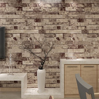 3D Vinyl WallPaper Roll Wall Paper Brick Stone Wallpaper Roll Living Room TV Background Decor For Living Room TV Background
