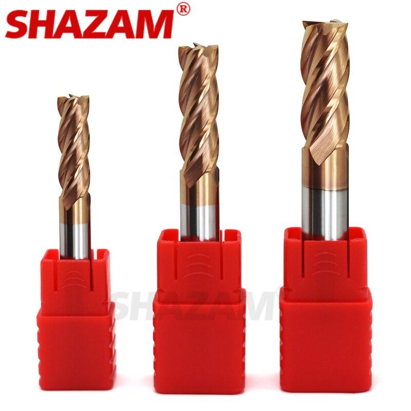 Фреза сплав покрытие Вольфрамовая сталь инструмент Cnc Maching Hrc55 Endmill SHAZAM Топ фреза Набор фрезерный станок Инструменты