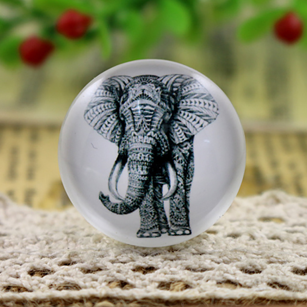 Hot Sale 5pcs/Lot 25mm Handmade Photo Glass Cabochons (Elephant) F7-35