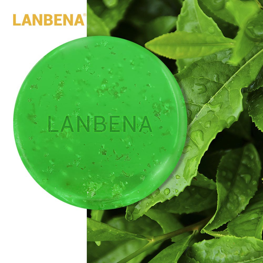LANBENA Handmade Soap Tea Tree Essential Oil Facial Cleansing Acne Treatment Moisturizing Remover Anti-Aging Blackhead