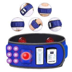 Image 2 - Correia abdominal infravermelha elétrica da cintura de 110 240v para perder peso massageador da aptidão vibração barriga queimar gordura dieta equipamento