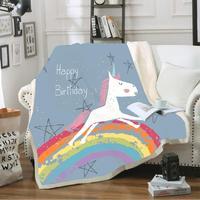 Good Dream Throw Blanket 3D Print Unicorn Soft Sherpa Coral Fleece Blanket for Teens Kids Nap Wrap Blankets Bed Sofa Decor Gifts