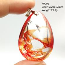 Genuine Natural Red Limonite Quartz Phantom Crystal Multi-inclusions Necklace Pendant 45x28x12mm Women Man Rare Fashion AAAAA newly natural red limonite quartz phantom crystal rare 38x30x17mm pendant for women man rare fashion aaaaa