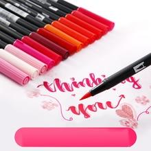 TOMBOW AB-T художественная кисть Ручка японская каллиграфия ручка 96 цветов Двойные головки Профессиональный водный маркер ручка для рисования
