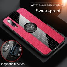 Brand Cloth Case For Xiaomi mi A3 A2 9T 9SE 8 Lite Max 2 3 Case Metal Ring Car Holder Magnetic Cover For Redmi Note 7 8 Pro Case(China)