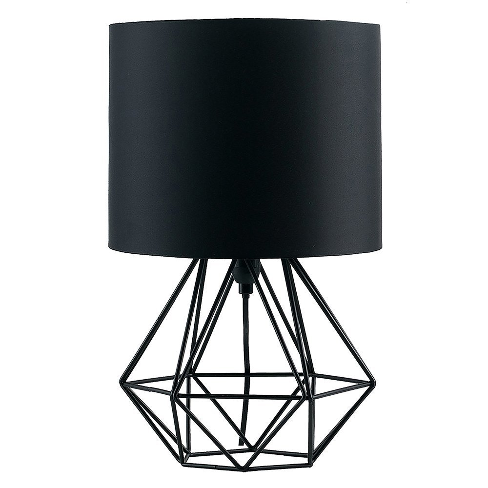 Home Goods Nordic Modern Fabric Shade Bed Side Metal Cage Table Lamp Wall Lights For Home Industrial Decor Wall Lights For Home