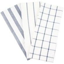 3PCS Cotton Stripe Table Napkin Kitchen Towel Dish Towel Cleaning Cloth Tea Towel Printed Durable Placemat 3 Styles(China)