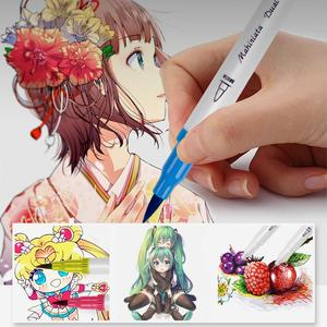 Image 4 - Dual Tip Art Markers 60/100/120 Colors Calligraphy Watercolour Paint Brush Pen Set for Adult Colouring Books