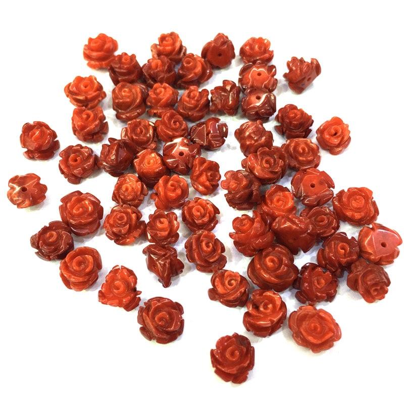 Натуральный коралловый цветок форма кабошон полуотверстие Бисер для изготовления ювелирных изделий DIY серьги гвоздики свободные бусины 8x10 мм Ювелирная фурнитура и компоненты      АлиЭкспресс