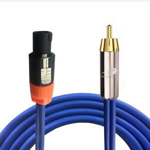 NL4FC 4 Pólo para RCA Cabo de Áudio Audiophile para Amplificador Estágio Profissional Orador Cabo OFC RCA Speakon 1M 2M 3M 5M 8M