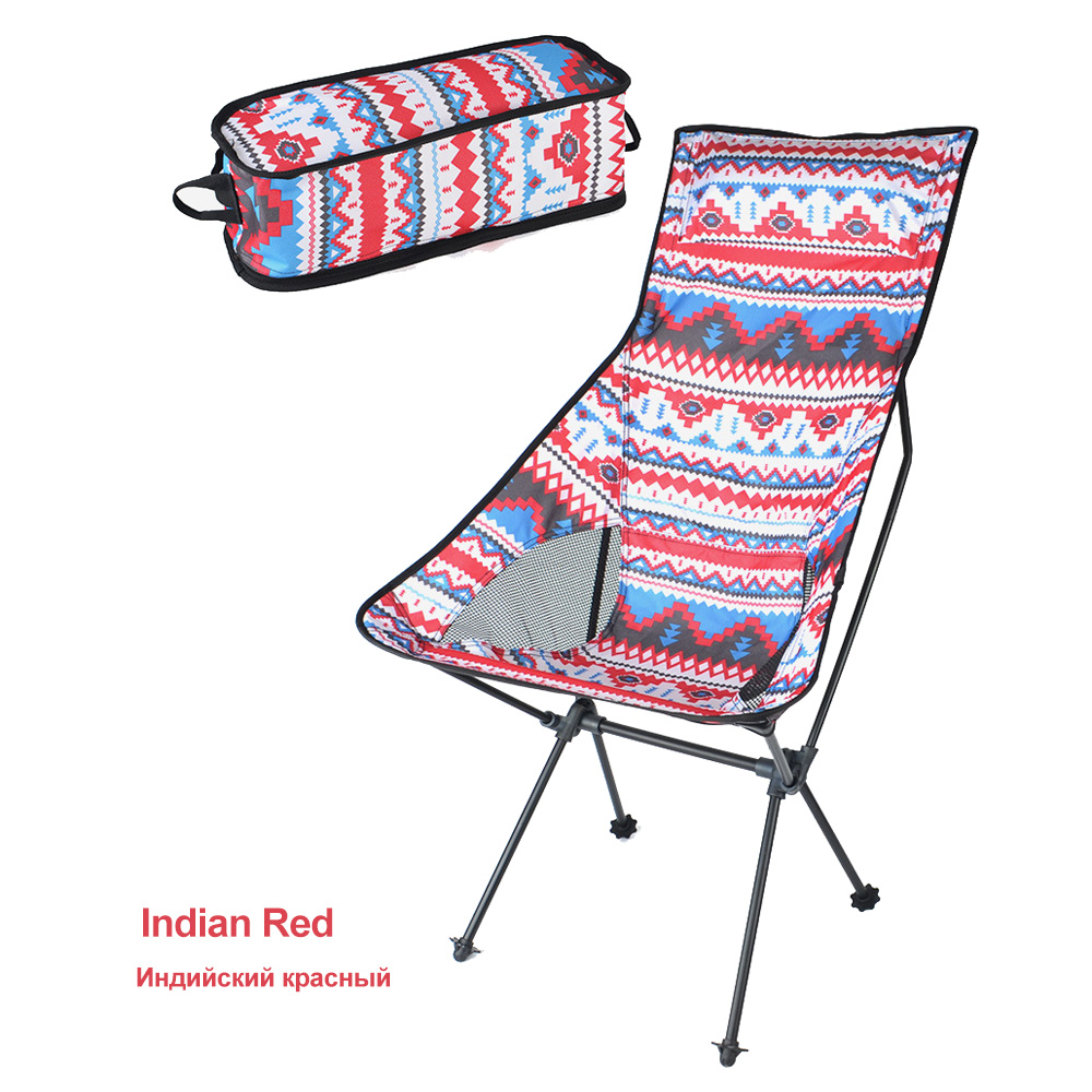 HooRu Lightweight Portable Chair Beach Fishing Folding Backrest Chair Outdoor Backpacking Camping Garden Chairs with Carry Bag