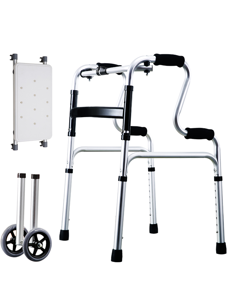 Walker Fracture Walking Stick The Elderly Walking Stick Four Leg Crutch Non-slip Handrail Frame A Cane Chair Light Four Horn Old