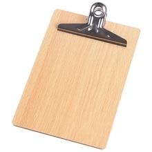 A4 Деревянный планшет папка для файлов стационарная доска жесткая доска письменная пластина зажим Сумка для документов папка для файлов буфер обмена отчет офис