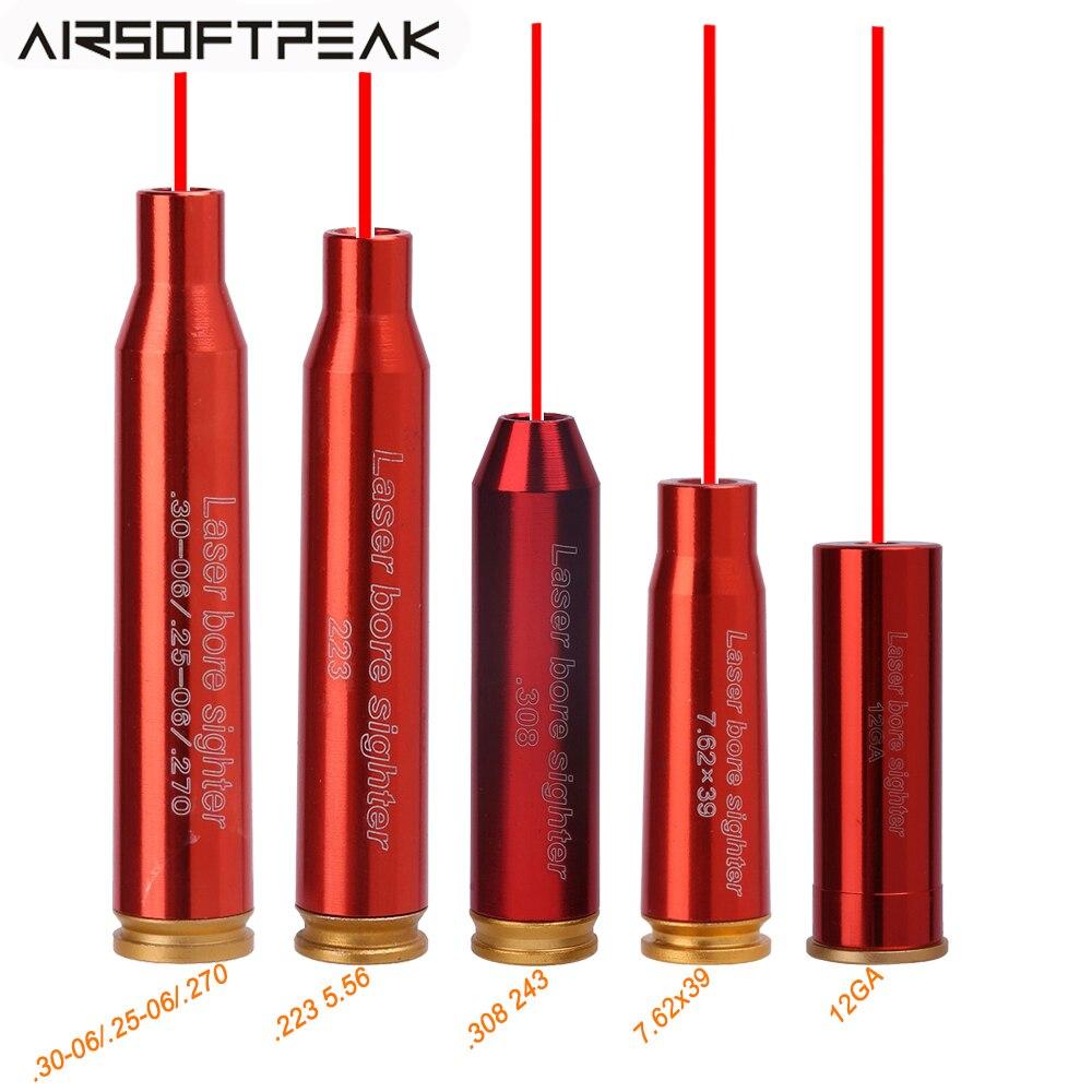 Красный точечный лазерный прицел калибра 12GA 7,62x39 мм 223 5,56 308 243 3006 30-06 картридж аксессуары для тактического ружья
