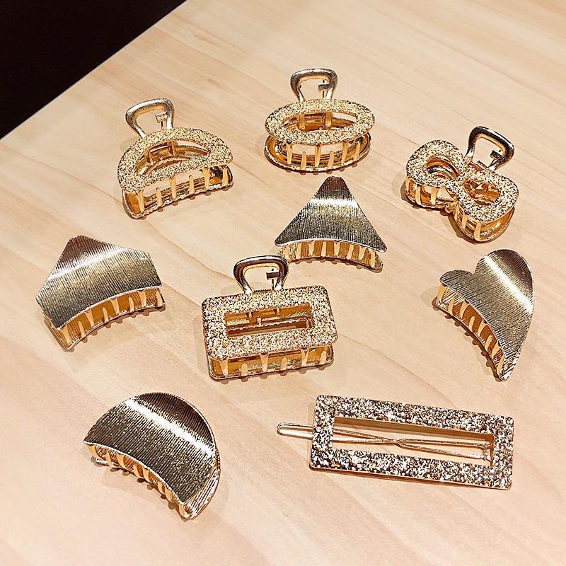 Headband Fashion Hair-Clips Geometric Vintage Women Sweet Alloy Elegant Gold New
