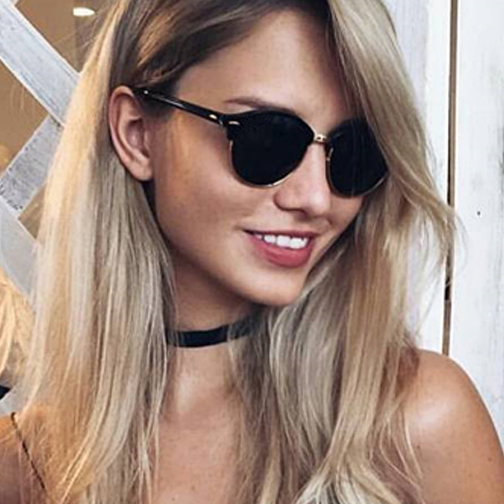 Star Style Sunglasses Men Women Brand Designer Club Round Glasses Classic Sun Glasses Driving Semi Rimless Eyewear