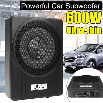 10 600W Car Active Subwoofer Speaker Audio Amplifier Vehicle Subwoofer Bass Amplifier Enclosure Auto Sound Car Audio Amplifier sound speaker switcher amplifier audio converter for 1 amplifier 2 speaker or 2 amplifier 1 speaker