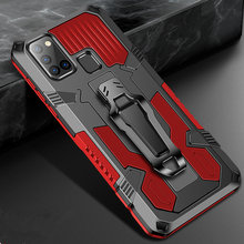 Para samsung a41 caso um 41 armadura clipe de cinto luxo caso à prova de choque para samsung galaxy m31 m21 m30s a71 a51 a41 m20 m11 suporte capa