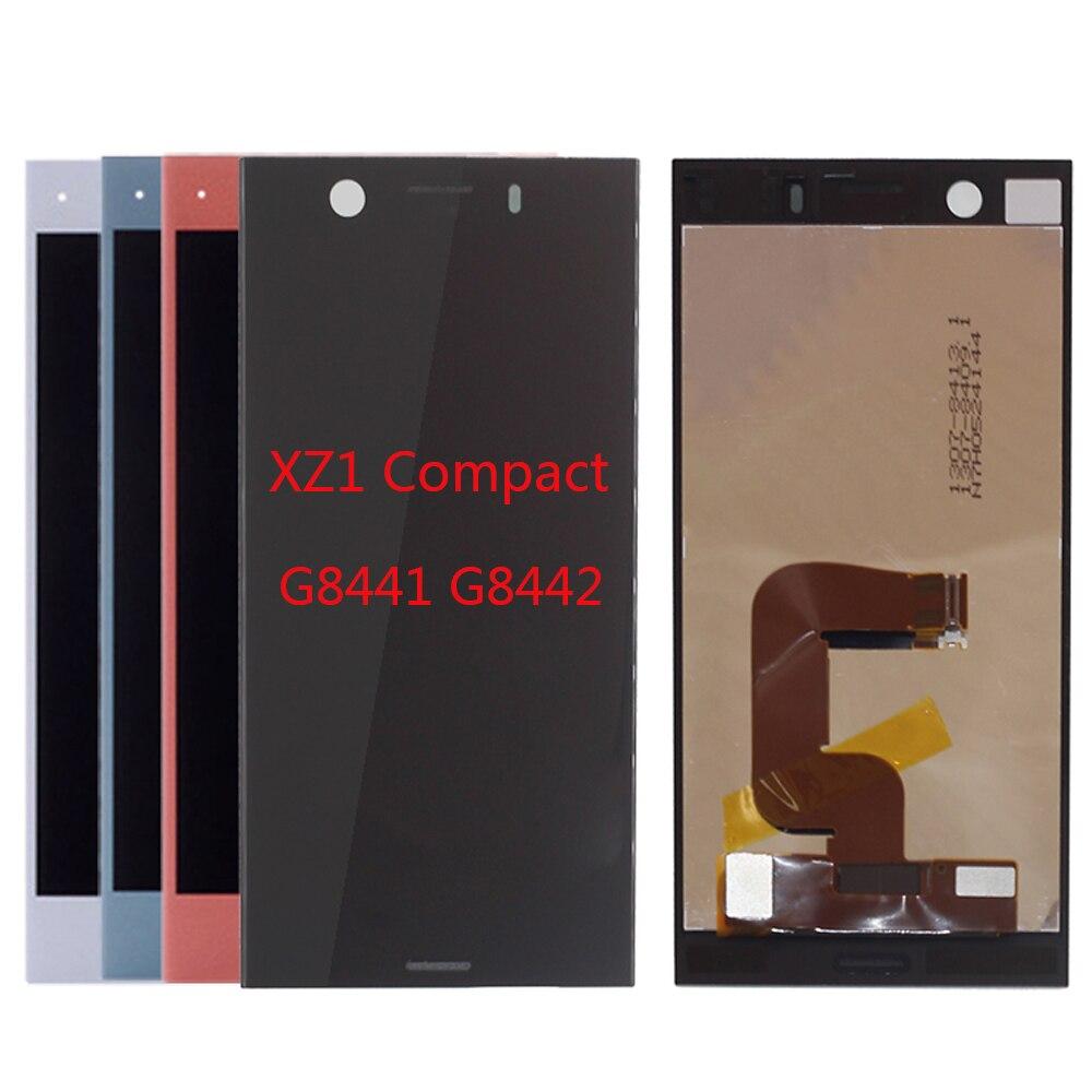 "4.6"" Original LCD For SONY Xperia XZ1 Compact LCD Display Touch Screen For SONY XPERIA XZ1 Compact LCD XZ1 Mini G8441 G8442(China)"