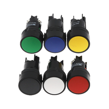 1 шт. 22 мм Мгновенный кнопочный переключатель красный цвет зеленый, синий желтого, черного и белого цвета, из коллекции Zapatos NO/NC XB2-EA142 XB2-EA131