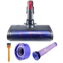 Soft Roller Head Quick Release Electric Floor Head for Dyson V7 V8 V10 V11 Vacuum Cleaner