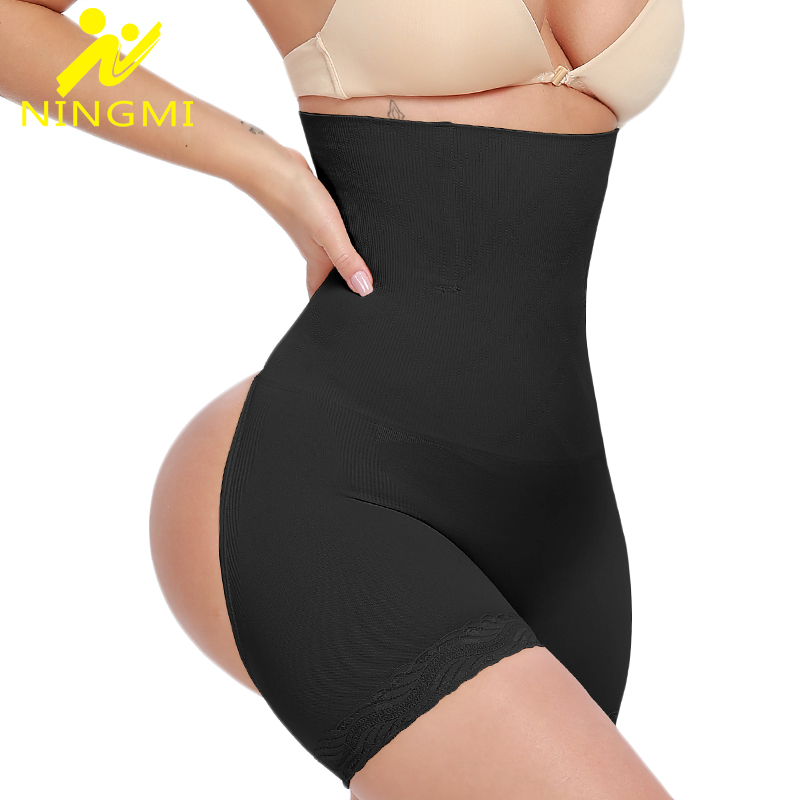 NINGMI Tummy Control Panties Women Slimming Underwear Sexy Butt Lifter Panty Slim Body Shaper High Waist Trainer Shapewear Short