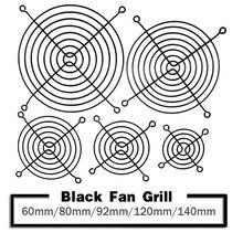 2PCS Metal Mesh Finger Guard Protective Net Fan Grill 60mm 80mm 90mm 92mm 120mm 140mm Computer Case Fan Grill защитная решетка для вентилятора arctic fan grill 80mm acfan00085a