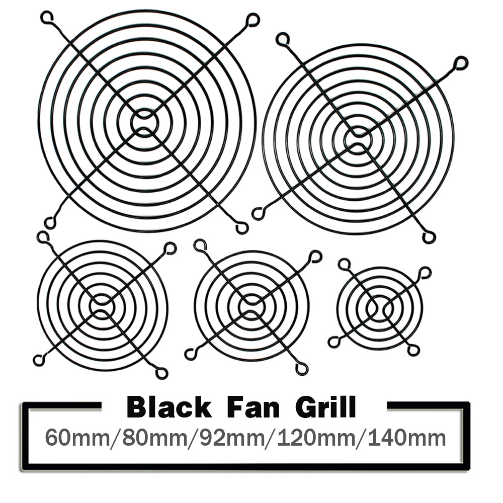 5PCS 60mm 80mm 90mm 92mm 120mm 140mm Black Metal Mesh Finger Guard Protective Net Fan Grill Computer Case Fan Grill