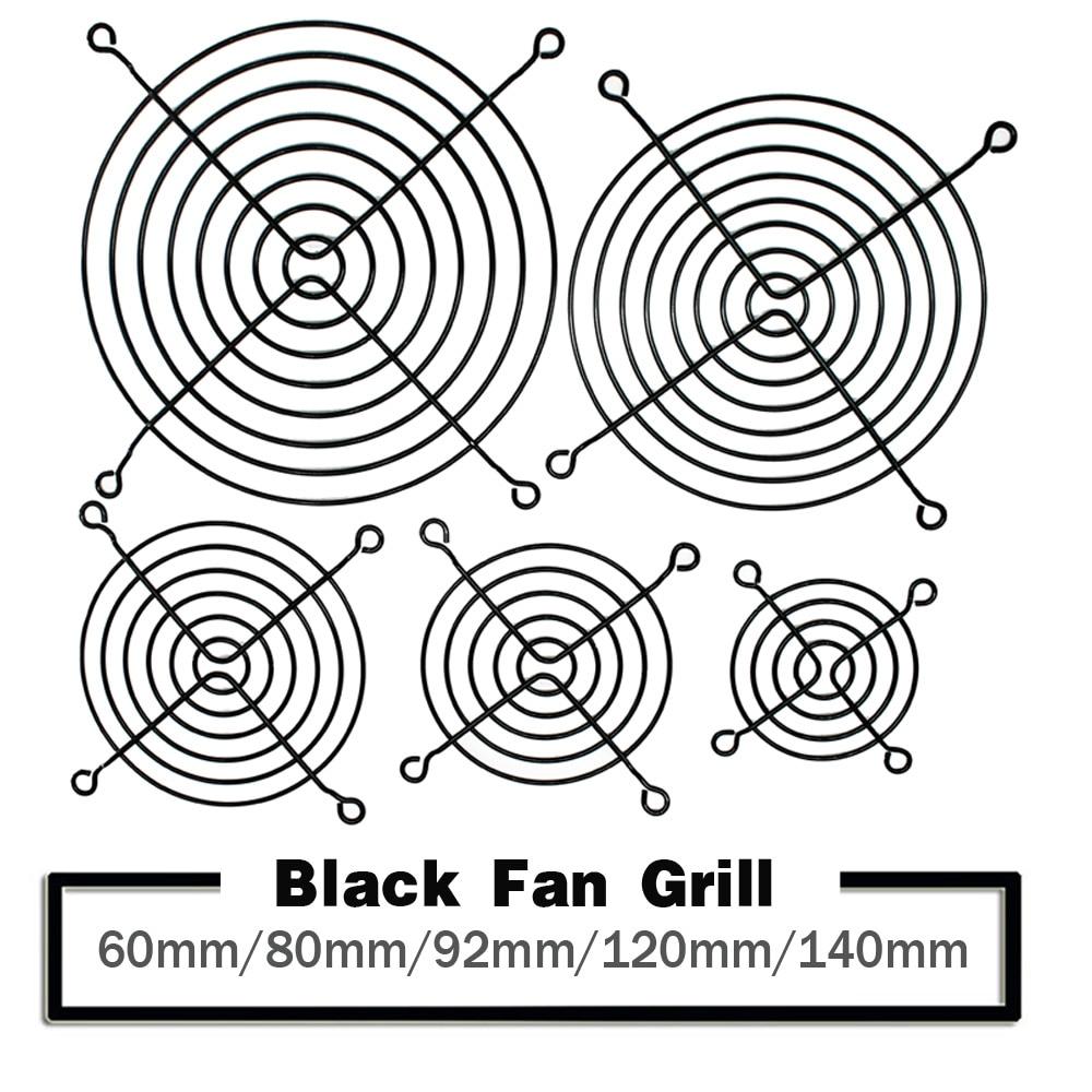 5PCS 60mm 80mm 90mm 92mm 120mm 140mm Black Metal Mesh Finger Guard Protective Net Fan Grill Computer Case Fan Grill