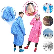EVA Transparent Waterproof Student Boy Girl Raincoat Poncho Windproof Rain Coat With School Bag Location Climbing Tour Raincoat(China)