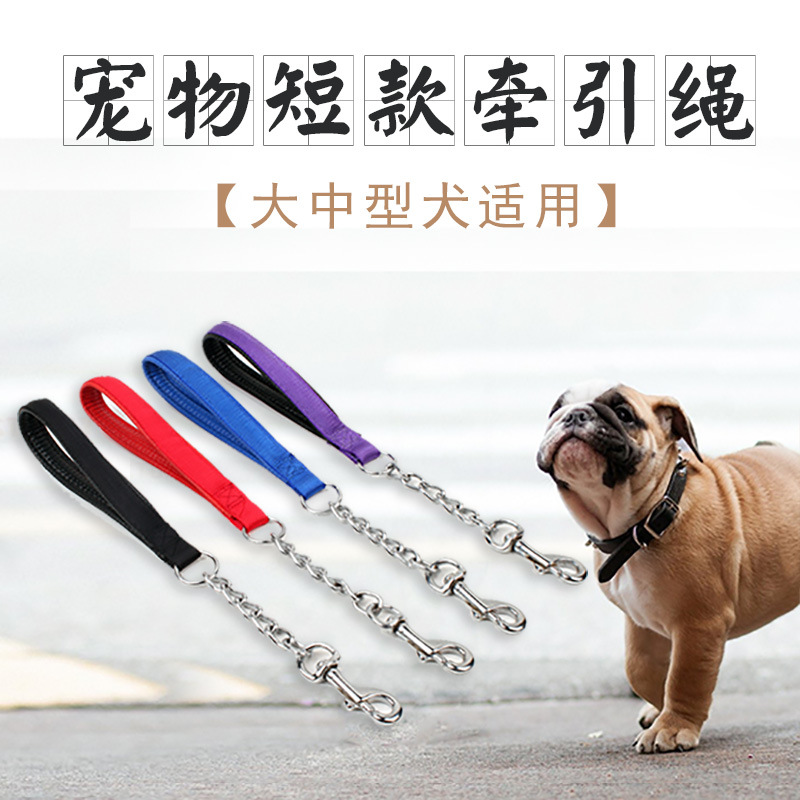 Hot Selling Pet Dog Hand Holding Rope Iron Chain Short Pull Pet Supplies