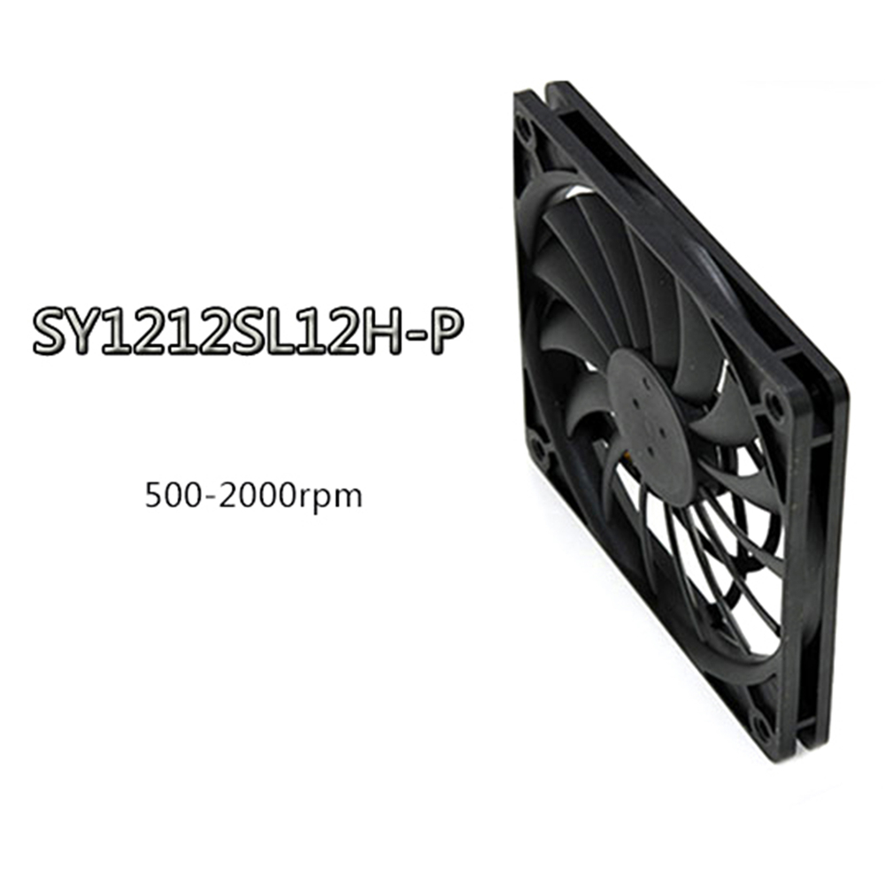 Image 2 - 1pc Scythe PWM Temperature Control Fan Ultra Thin Cooler Fan SY1212SL12H P 4 Pin 12 * 12 * 1.2cm Replacement FanReplacement Parts & Accessories   -