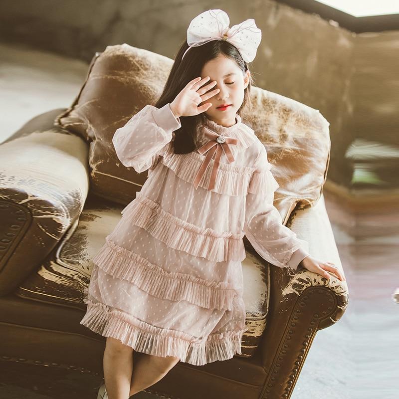 Novo para meninas vestido para a primavera 2021 meninas roupas meninas vestido da menina de flor vestidos crianças vestido da menina vestidos de princesa|Vestidos|   -