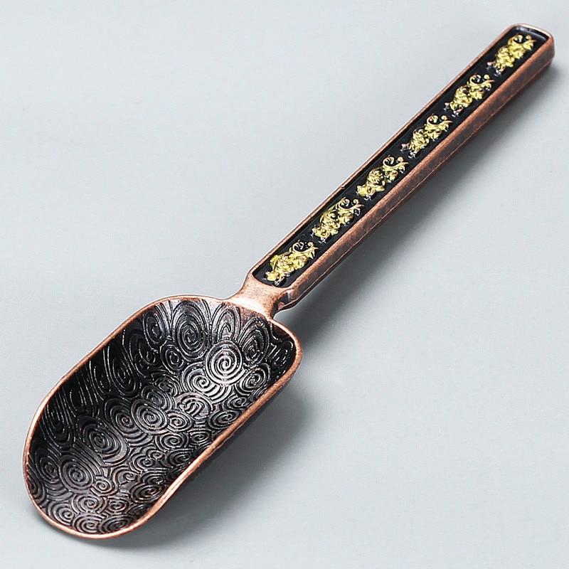 Natural Bamboo Solid Ebony Wood Stainless Steel Teaspoon Tea Scoops Kungfu Tea Set Tea Ceremony Accessories