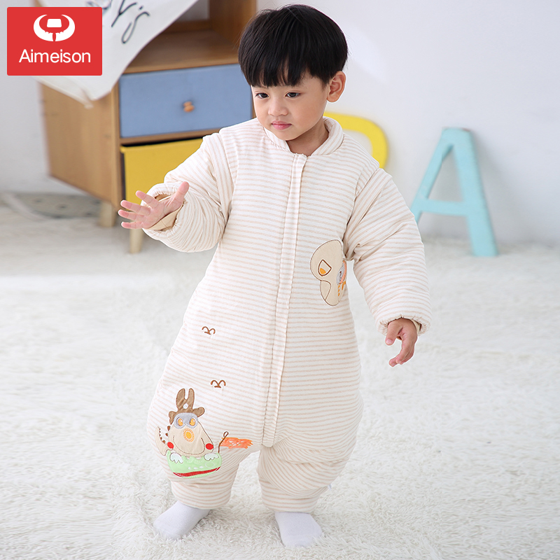 Sleeping Bag Baby Spring And Autumn And Winter Models Thickening Baby Legs Children Anti-kicking Artifact Four Seasons Universal