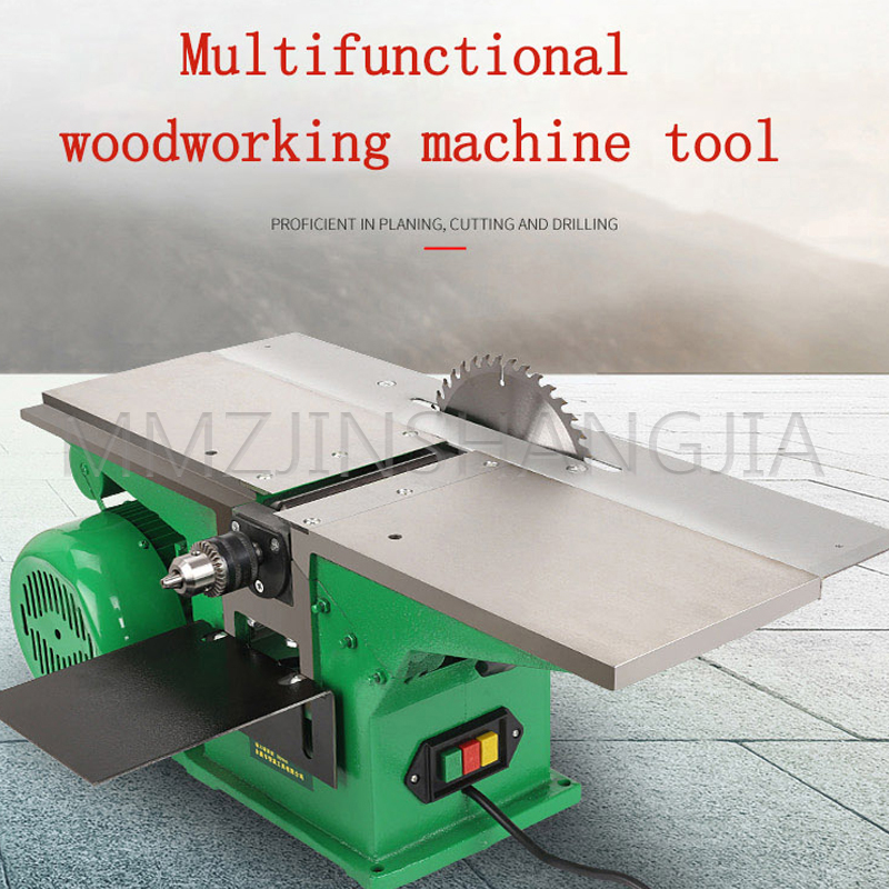 Household Three-in-one Planer Saw Drill Multifunctional Woodworking Machinery Industrial Type High-power Desktop Electric Tools