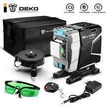 DEKO 12 lignes 3D niveau Laser vert lignes transversales horizontales et verticales 520nm,Auto-nivellement, haute précision (série DKLL12tdP02)