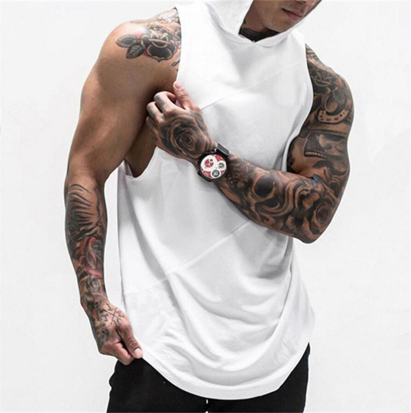 2020 New Mens Sleeveless Tank Tops Summer Print Cotton Male Tank Tops Gyms Clothing Bodybuilding Undershirt Fitness Tank Top