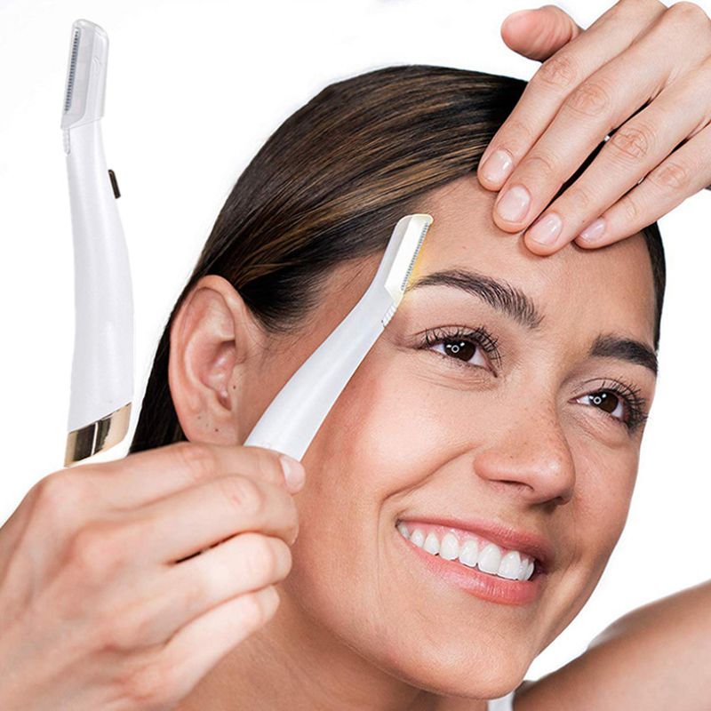 Dermaplaning Hair Remover Lighted Facial Expoliator Electric Lady Shaver Razor Face Hair Shaver Painless Expoliates Dead Skin