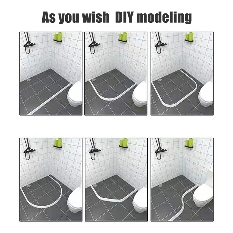 2019 Bathroom Kitchen Water Stopper Dry And Wet Separation Silicone Water Barriers Floor Partition Strips
