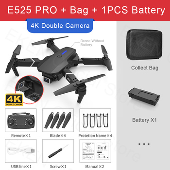 E525 PRO RC Quadcopter Profissional Obstacle Avoidance Drone Dual Camera 1080P 4K Fixed Height Mini Dron Helicopter Toy 15