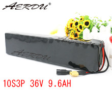 AERDU 36V 9.6Ah 10Ah 600watt lithium battery pack built in 20A BMS For M365 pro ebike bicycle scooter inside for MH1 Cell