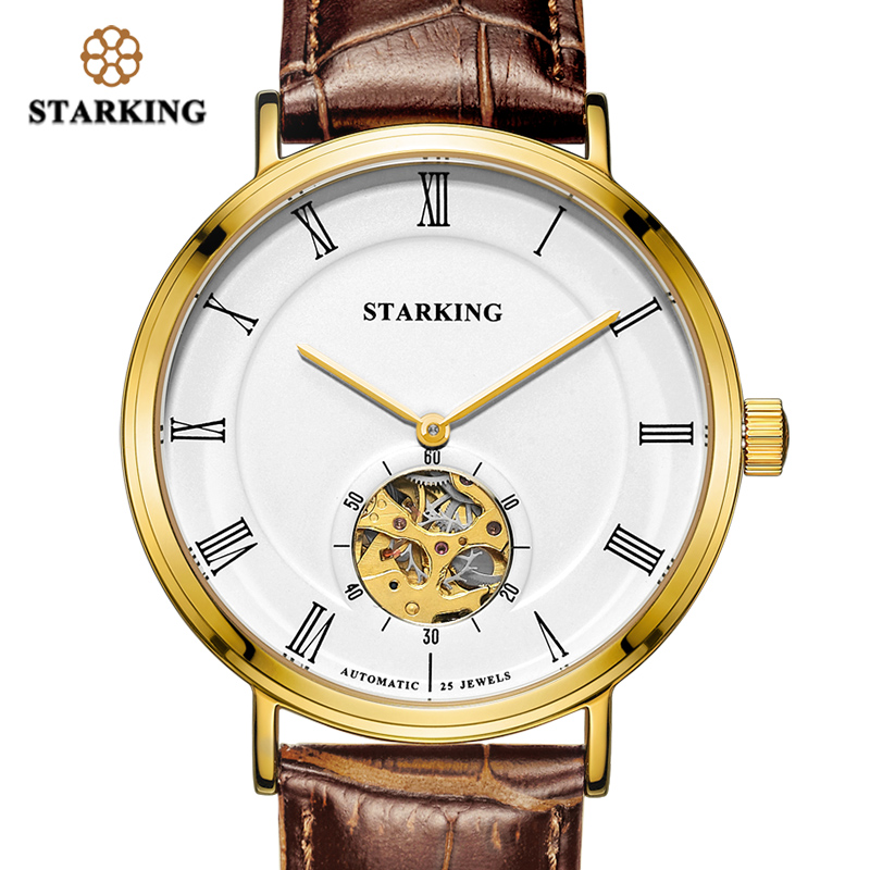 <font><b>STARKING</b></font> Men Watches Mechanical <font><b>Automatic</b></font> Self-Wind <font><b>Sapphire</b></font> Crystal Watch Dial 5ATM Waterproof 2019 Fashion & Casual Wristwatch image