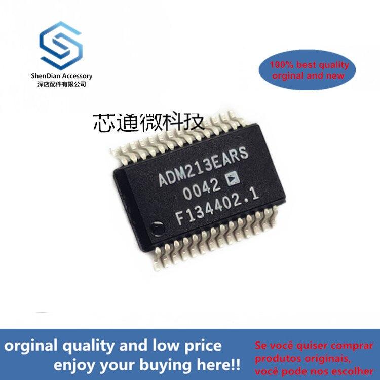 10pcs 100% Orginal New ADM213EARS ADM213 SSOP-28 EMI/EMC-Compliant, ±15 KV ESDProtected, RS-232 Line Drivers/ (can Work Perfect)
